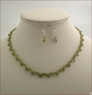 Vesuvianite Necklace and Earrings Set (SM121)