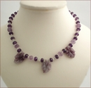 Amethyst with African Lilac Necklace (LF22)