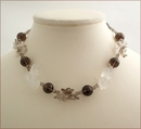 Smoky Quartz Floral Necklace (LS36)