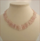 Ballerina - Rose Quartz Wands Necklace (CG53)