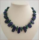 Chunky Lapis Lazuli and Malachite Necklace (SS91)