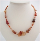 Carnelian Flowers Necklace (CG36)