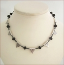 Silver Pennants Necklace (SS95)