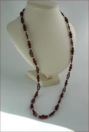 Long Red Jasper Necklace (LS92)
