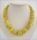 Yellow Magnesite Statement Necklace (BH87)