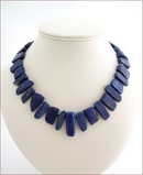Chunky Lapis Lazuli Knotted Necklace (WB28)