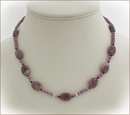 Lavender Lass Lepidolite and Phosphosiderite Necklace (CG30)