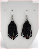 Black Fringe Earrings (BWE03)
