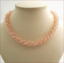 Rose Pink Double Spiral Necklace (BW40)