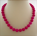 Magenta Candy Jade Necklace (BH88)