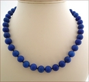 Royal Blue Candy Jade Necklace (BH92)