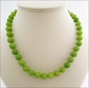 Lime Green Candy Jade Necklace (BH94)