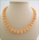 Peach Candy Jade Necklace (BH95)