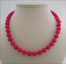 Dark Rose Candy Jade Necklace (BH96)