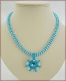 Blue Sparkle Necklace with Swarovski Pendant (WB42)