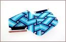 Blue Basketweave Bracelet (BB20)