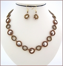 Golden Shadow Swarovski Beadwork Necklace (BW48)