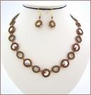 Golden Shadow Swarovski Beadwork Necklace (BW48)
