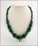 Raw Malachite Sticks Necklace (WB32)