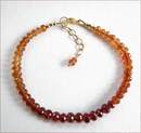 Precious Friendship Bracelet in Hessonite Garnet (SM129)