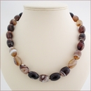 Botswana Agate Knotted Necklace (D58)