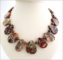 Ocean Agate Slabs Knotted Necklace (LS104)