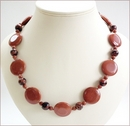 Goldstone Coins Necklace & Earrings (LS107)