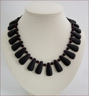 Matt Black Onyx DropsNecklace (SM132)