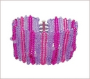 Pink & Purple Herringbone Cuff (BB22)