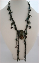 Rainforest Beaded Labradorite Lariat (BW62)