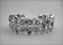 Diamond Silver Beadwork Bracelet (BB24)