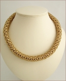 Gold!  Netted gold bead necklace (BW101)