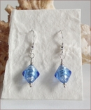 Sapphire Blue Murano Glass Earrings (DDE17)