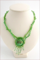 Reed Nymph Green Dragonfly Necklace (BWD03)
