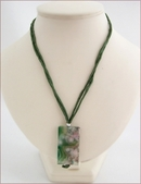Olive Green Sakura Agate Pendant on Silk (CG08)