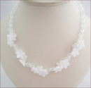 White Jade and Crystal Quartz Necklace (CG69)