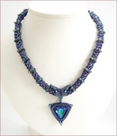 'Azrak' Swarovski Crystal Beaded Necklace (BW103)