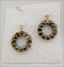 Yellow & Grey Wheel Earrings (BWE04)