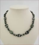 Green Silverline Jasper Necklace (LS112)