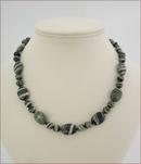 Green Silverline Jasper Necklace (LS112)